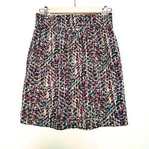CAbi Geometric Print Black Skirt